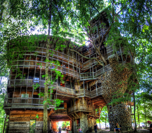 "beconinriot:  Chuck Sutherland ""Minister's Tree House revisited"" Cumberland Co, TN"