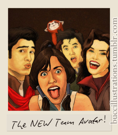 Darn right we include Pabu. buccillustrations:  Team Avatar 2.0. June 2012. Pen & Ink, Photoshop CS5