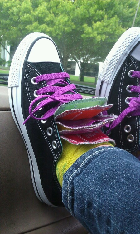 My new All Stars that my baby bought for me, I love them!