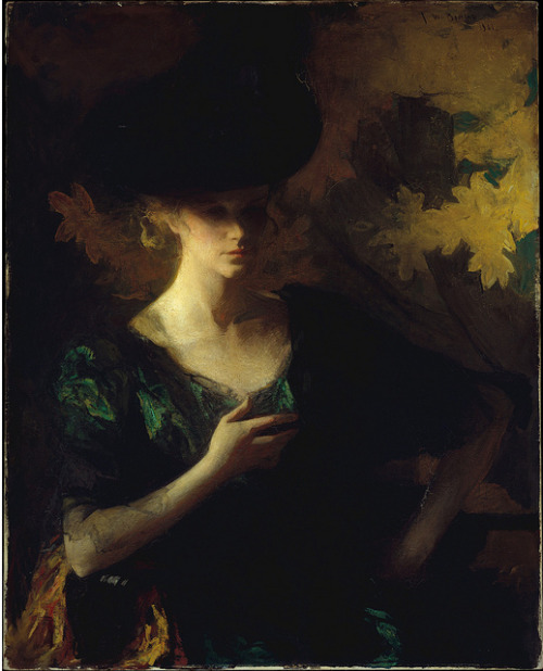 soyouthinkyoucansee:  soyouthinkyoucansee Ludwig Hartmann Mayer Woman in black, 1900