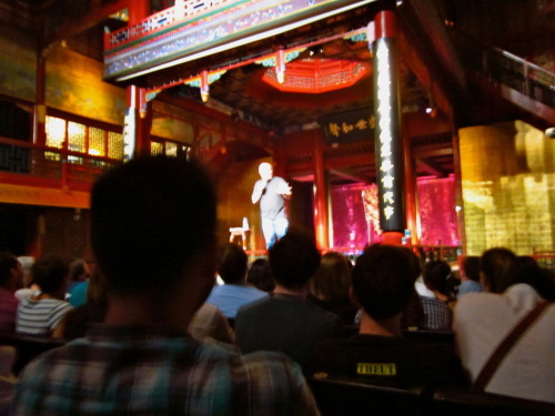 best crack i could get at a photo of Louis CK from sunday. Unreal time though! couldn't beleive my luck to hear about the show. if i could see any stand up it would be him and the kid did not disappoint!