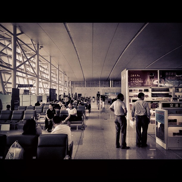 #another #day another #airport - #iphone #travel #Linyi #china  (Taken with Instagram)