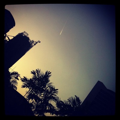 Rocket fly. #experimental #iphoneography #kl #sunset (Taken with Instagram)