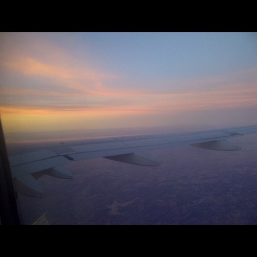Sunset in the air somewhere between Porto Alegre and Brasilia (Taken with Instagram)