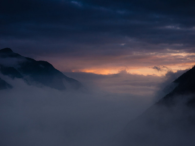 Clouds Rolling up the Dudh Khosi Valley by megascapes on Flickr.