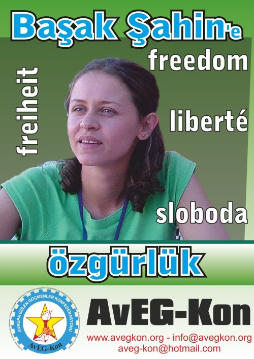 "Former Turkish student leader imprisoned in Croatia   (an information from the ICOR main coordinator), 3 June 2012   Mrs. Basak Sahin Duman, resident of Germany, faces deportation to Turkey In Turkey a long term imprisonment awaits her due to her political activities as a student In the morning of May 29, 2012, Basak Sahin Duman went by plane from Germany to Zagreb, Croatia. When she arrived at the airport of Zagreb, she was detained by the police. To her big surprise, the Croatian police claimed that an international warrant was been issued against her. Now, she is in custody pending deportation to Turkey, one of the most repressive regimes, with thousands of political prisoners, with regular torture of prisoners according to international human rights organizations like Amnesty International, Human Right Watch, and even the Council of Europe. Why is a young Turkish woman, who is married since 2006 with a German citizen and lives currently in Germany, where she works as translator, detained and treated like a terrorist? In order to understand that, we have to remember, that Turkey is not a democracy. In Turkey, even activities of democratic movements are imprisoned very easily and frequently. There are uncountable examples of trade-unionists, journalists, human right activists, students, Kurdish activists and even children who are in prison for ""big crimes"" such as going to a demonstration, writing an article oppositional to the regime, demanding democratic rights like freedom of opinion etc. The same happened to Mrs. Basak Sahin Duman. Basak Sahin Duman, born in 1979 in Ankara, was studying at medical faculty of the University of Istanbul (IÜ). In the beginning of the semester 2002-2003, she was detained. During the opening speech of the semester by the university president Kemal Alemdaroglu, she claimed the demand of a ""democratic university"". According to the public observers, the police reacted very hard and detained her using a lot of violence.  This is only one of many examples, students in Turkey and Northern Kurdistan are experiencing when they claim free, democratic, scientific and autonomous universities. On December 7, 2004, Basak participated at a student's demonstration in Ankara marching to the parliament. The demonstration was a protest against the anti-terror law, which was debated in the parliament at that time. Many people have been detained, when the police attacked the students brutally and she was one of them. After being held in prison on remand for month, she was released. However the trial lasted until 2010.  Despite lack of any evidence, the 11th Court for Heavy trials of Ankara sentenced dozens of persons on April 22, 2010 to 224 years of prison in total for ""being member of an illegal organization"" and propaganda for an illegal organization"". Together with 24 others, Basak was sentenced to 7 years and 6 month. An application at the European Court of Human Rights against this court decision has been filed already onOctober 25, 2011 under the number 71667/11 because of violation of paragraphs 6, 7, 10 and 11.  However not enough with this strange understanding of democracy and terrorism in Turkey, now the Croatian state, being candidate member of the European Union, is acting similar by imprisoning her and threaten to extradite her to Turkey, where long years of prisons and torture awaits her. Germany, the country she lives and has a right of residence, seems to have no hurry to save her from this more than critical situation too. Since May 30, Basak Sahin Duman is in extradition jail and the process in which it will be decided if she will or will not be extradited has started. When being confronted with the danger of deportation to Turkey, she applied for political asylum in Croatia. However, the Croatian police untruly claimed that there is no political asylum in Croatia! The court confirmed unofficially that she applied for political asylum, however it is still uncertain, if her application has been officially recorded. Moreover, there are already several court decisions accepting political asylum in France, Germany and Switzerland for people sentenced in the same case as Basak. Her situation is still very critical, however the media and several NGOs in Croatia started already to inform about her case and launched protests notes. We call on each person to solidarize with Mrs. Basak Sahin Duman and protest against her imprisonment in Croatia and against her deportation to Turkey. Please send protest notes, letters, faxes, or emails to the following addresses and demand her immediate release: Consulate general of the Republic of Croatia in BerlinAhornstraße 4, 10787 Berlin, GERMANY Phone: 0049 30 2191 5514, 0049 30 2362 8955(Cons.) Fax 0049 30 2362 8965, 2362 8967(Cons.) Email: berlin@mvpei.hr"