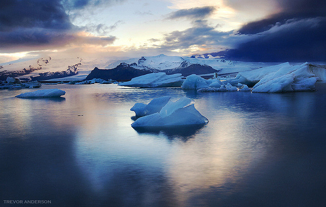 Icy Polarities- Glacial Lagoon, Iceland by Trevor Anderson on Flickr.