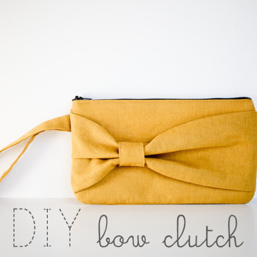 DIY bow clutch! Please click on image to go to full tutorial!