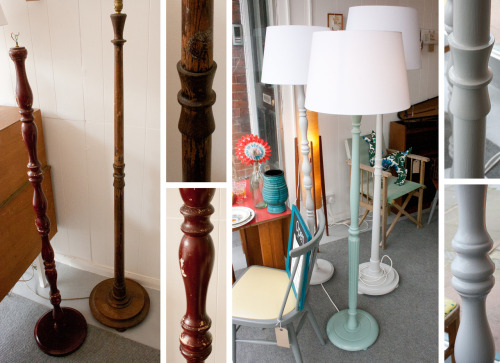 Selection of refurbished Standard Lamps, always in stock at  Makings & Doings.