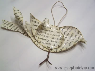 crafty paper birdy