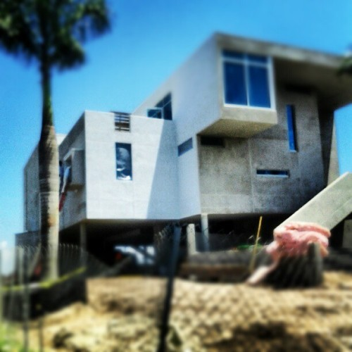 An awesome modern home being built in snell isle I found riding my bike #bikelife  (Taken with Instagram)