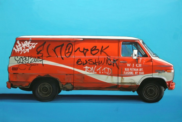 (via Oil Paintings of Retro Vehicles by Kevin Cyr » Design You Trust – Design Blog and Community)