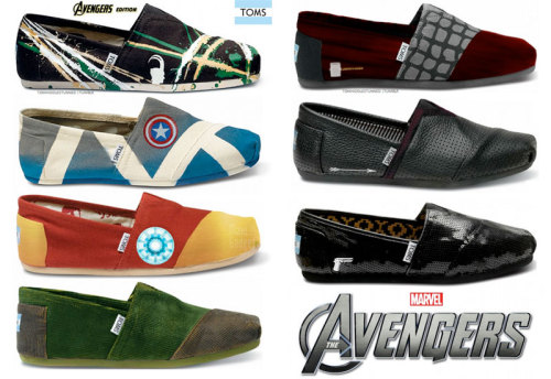 Stunning Avengers TOMS Shoes !