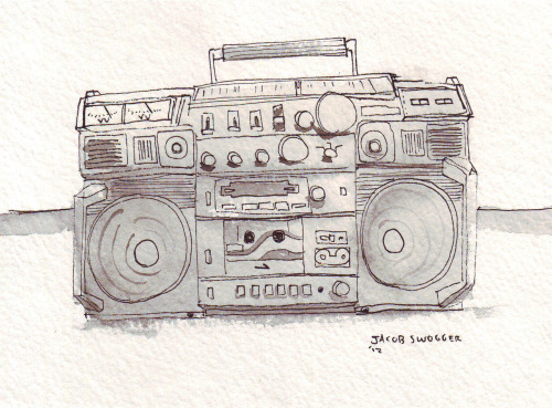 "Drawing by Jacob Swogger.""The Mix: The Songs Of The Summer, 1962-2012"" Playlist by NPR."