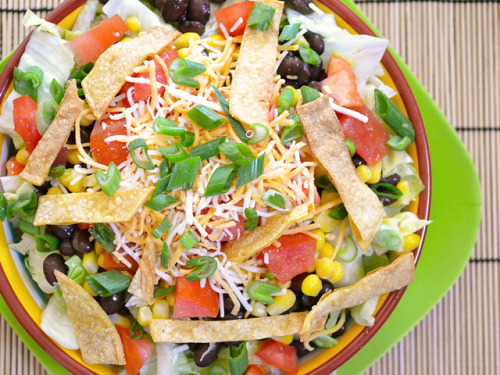 thecraving:  Southwest Salad with Taco Ranch Dressing