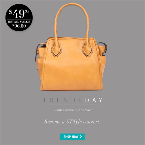 Today is #Trendsday and we're obsessed! You'll never want the Libby Convertible Satchel to leave your side!