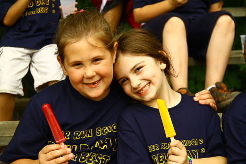 NEWS 8 Report It Photo of the Day: Autumn & Jayda Enjoying field day at Deer Run School. Photo sent in via Report It by Kevin S Clancy .