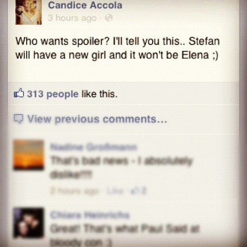stelenasdiaries:  thevampirediaries:  yay :')   Yeah it will be caroline ;)