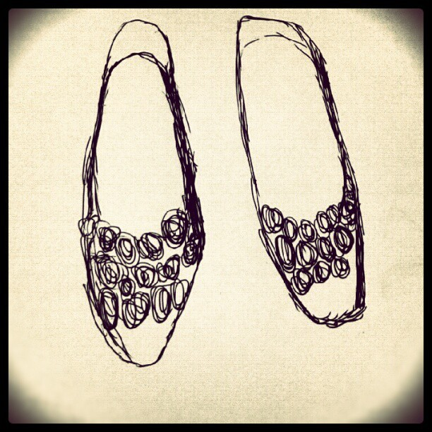 #flat #shoes #picture #sketch #art ##artshoes #picture #potrait #bestoftheday #love  (Taken with Instagram)
