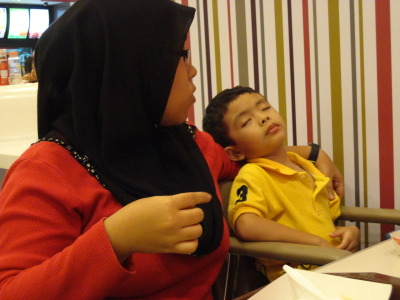 lil cousin sleep while having his meal