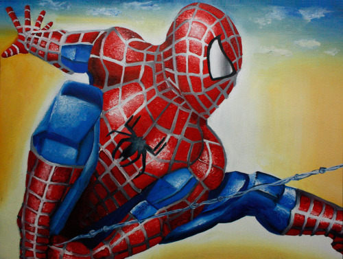 Spiderman oil on canvas 18x24in