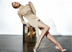 @MUSE_Mag feat @angelcandice wearing #Mugler ss12 sand top and skirt, @formichetti @sebastienepeigne