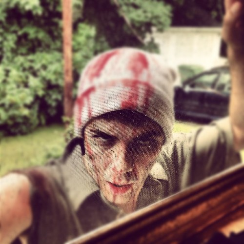 #thisishowwefilm #aimforthehead #zombie  (Taken with Instagram)