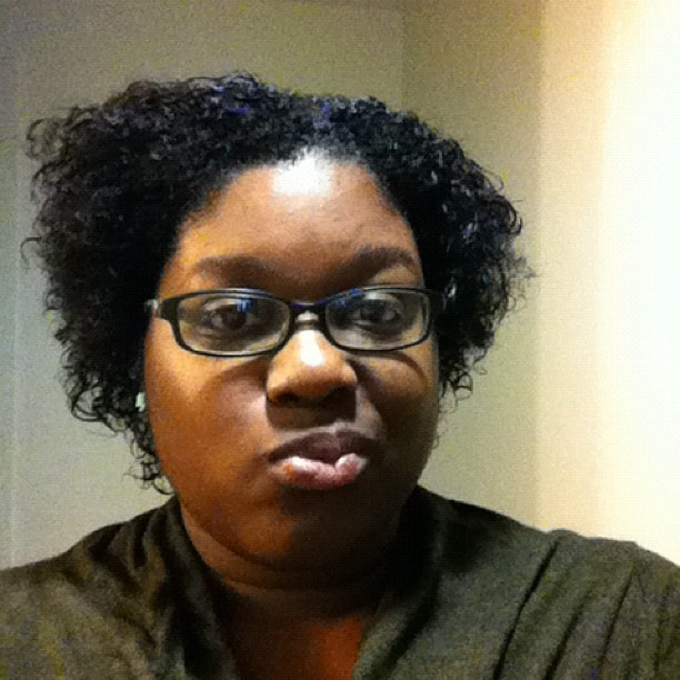 Rockin my jeri curl today. Lol (Taken with Instagram)
