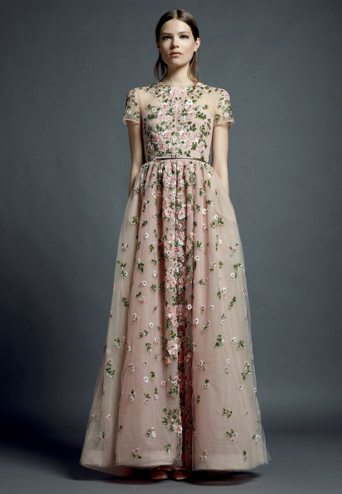 vogue:  Valentino Resort 2013 Photo: Courtesy of Valentino Visit Vogue.com for the full collection and review. Shortened—this could be a cute bride maids dress!