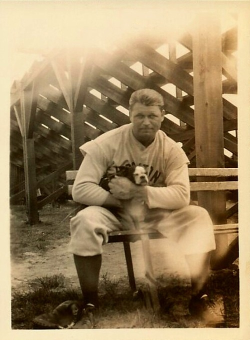 Jimmie Foxx & His Adorable Puppy1930's Boston Red Sox Spring Training