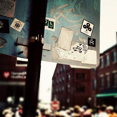 #abyss_crew stickers spotted on http://maineproject.com #portland #maine #oldport #fest #local #sticker #downtown  (Taken with Instagram at Old Port, Portland, ME)