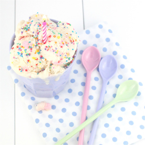 Birthday Cake Batter Ice Cream (by Made With Pink)