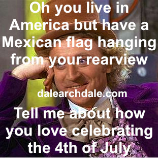 DAY 165: The Fourth of July is three weeks away! Write jokes about it today. JULY 4TH - God I love America.  Let's give it up for AMERICA! Yeah! I love celebrating our birthday. Aren't we the rich obnoxious kid to the world? Right, like when we go to one of our neighbor's kid's birthdays and the kids an asshole.  That's US! We're the asshole kid to the world.  The kid's sitting there at the table whining for more cake, as he smears his ice cream all over the Asian kid. Next thing you know, he's taking his squirt gun and shooting all the old people with it, while he steals shit out of their purse.  Just an asshole.  But don't try to reprimand him or else his parent's will snap.  Now you're in trouble with The Man. Suggest that the kid tries to eat healthier or not waste food? Yeah right, you'll get a slingshot to the nads. Maybe tell the parents that the kid shouldn't hit the other kids? Yeah OK.  Don't try to borrow anything from them ever again. And you might just have to return the leaf blower now too.  Maybe tell them that they should put the kid in some classes or give him some meds so he won't act like such a fucking idiot around the other kids and thus won't cause the other kids to act like fucking idiots too?  Oh hell no he didn't.  Now it's on.  A full blown war of the neighbors.  Now it's all awkward when we're forced to hang out at the roundtable during the block party.  Now it's all awkward when we wanna have them water our plants when we go out of town.  Now it's all awkward when we use their slip-n-slide.  Shit, where was I going? Are we still talking about America? Somewhere in there, I guess.
