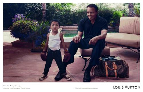 "Muhammad Ali and his grandson front the latest Louis Vuitton Core Values campaign. ""Some stars show you the way,"" reads the tagline. Our favourite yet!"