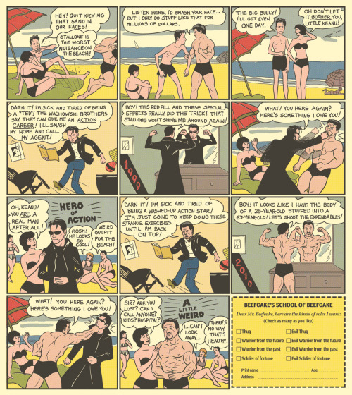 Charles Atlas comic by Chip Zdarsky for the National Post.