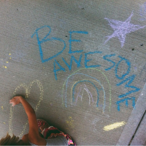 chalk art with Ava #vscocam  (Taken with Instagram)