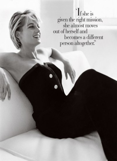 "Vanity Fair's ""Portraits of Royalty"". Diana, [July 1997]."