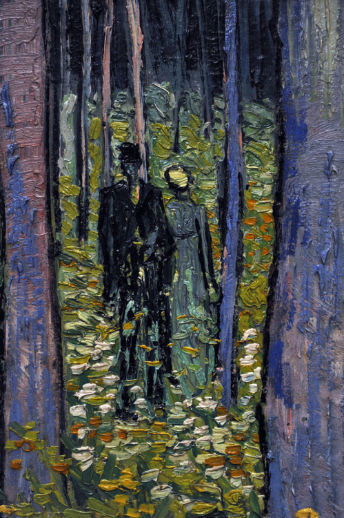 pocketfinesse:  tamburina  Vincent van Gogh, Undergrowth with Two Figures, 1890