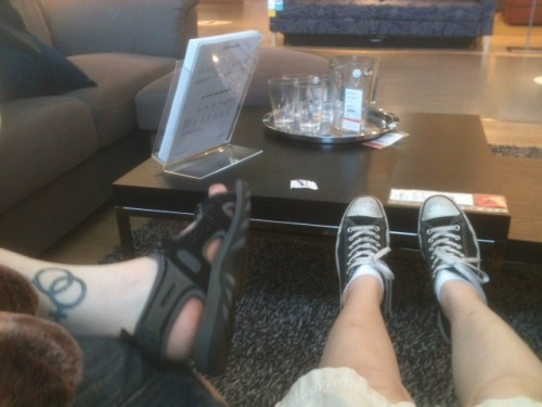 our feet at IKEA yesterday