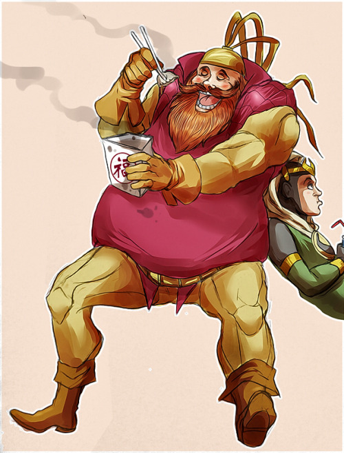 truebaldersbeard:  Tumblr needs more Volstagg's love. And Chinese food.And Kid Loki, because of reasons.