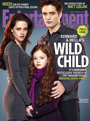 (via Breaking Dawn Part 2 — First Pic of Renesmee - EW.com) What I really want to note about this picture is that Renesmee is like three days old and she's already up to Bella's shoulder. That, and she's staring at the viewer in a blasé, almost defiant fashion, as if to say, Yeah, I'm meeting Wolfboy tonight for a romantic candlelit elk, what you gonna do about it?