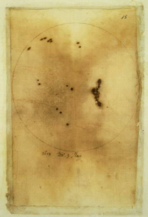yama-bato:  Galileo Galilei, Sunspot observations Paper 3 May 1612 http://www.loc.gov/exhibits/vatican/vatican.html#itmotpmahd Galileo helped to create a new science partly because of his extraordinary skills as an observer, which enabled him to create and use the first telescope. These drawings represent sunspots— whose existence proved that the sun was not the perfect, unchanging body that traditional Aristotelian cosmology considered it to be. Galileo's work received strong support for a long time from Maffeo Barberini, the future Pope Urban VIII, though his Dialogues on Two World Systems and Copernican views would eventually be condemned by Rome.