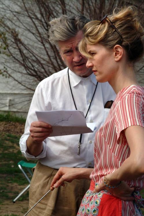 David Lynch & Laura Dern on the set of Inland Empire.