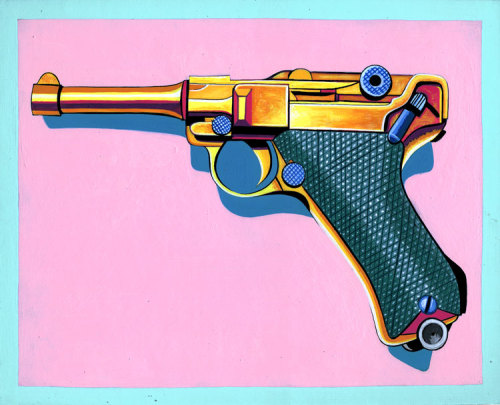 pezzz:  Acrylic Ink on 8x 10 in. Illustration Board. Luger.
