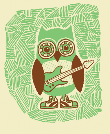 curioos-arts:  Tad Carpenter (USA)  Oh I'm a chi omega! Owl love.