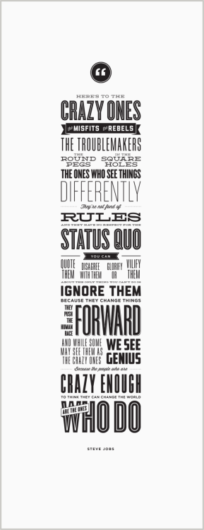 The crazy ones -typography