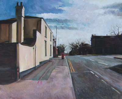 View of St John's square from Wentworth street Wakefield my painting by Captain Wakefield on Flickr.Oil 24 x 20 inches