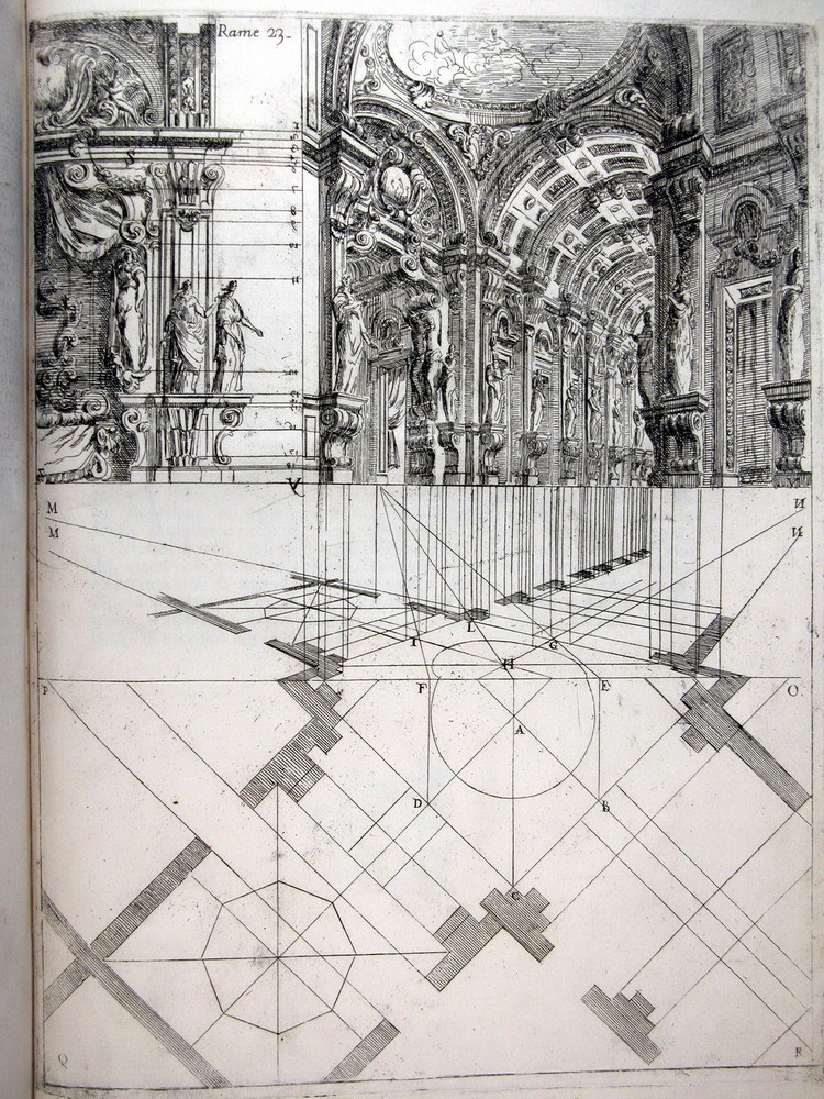 icancauseaconstellation:  Ferdinando Galli de Bibiena, stage design showing a scena par angolo, 1711 [via]