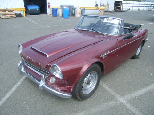 mycarlife:  It's a 1967 Datsun Fairlady I found while looking for some cheap cars to buy. This one in particular needs restoration. Hopefully when I get my mits on some money I'll be able to buy it, that'll be a great project for me or any Gearhead! Any tips to restore an old car?  $$$$$$