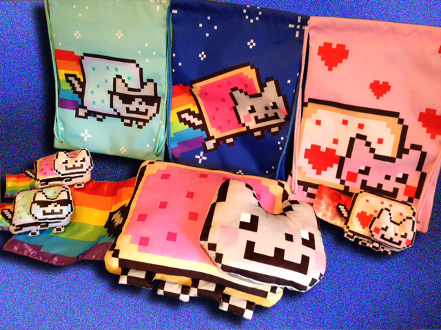 "Toymaker Releasing Official Nyan Cat Toys & Collectibles The Toy Spy has announced that toymaker JAKKS Pacific will launch a line of officially licensed toys, plush, and other products based on the popular internet meme, Nyan Cat. When pressed, the plush toys will sing the Nyan Cat song.The Toy Spy asked Chris Torres, Nyan Cat's creator, what he hopes Nyan Cat will be in the future and he replied, ""the retro 8-bit, yet new, Hello Kitty"". The line is expected to release in Fall 2012. (Source: laughingsquid.com )"